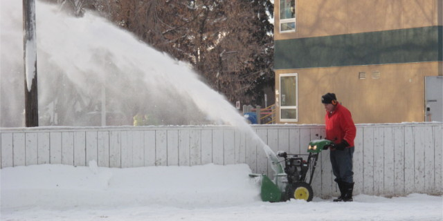 Clearing Snow-slide